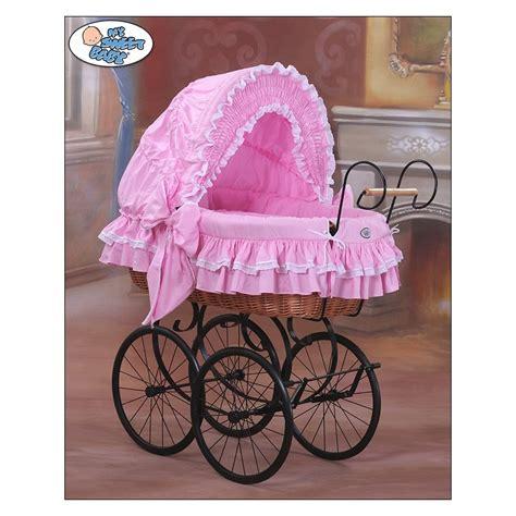 culla baby culla vimini neonato vintage retro rosa