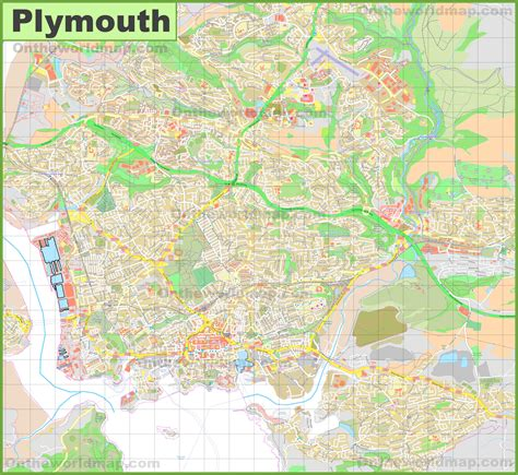 map of plymouth detailed map of plymouth