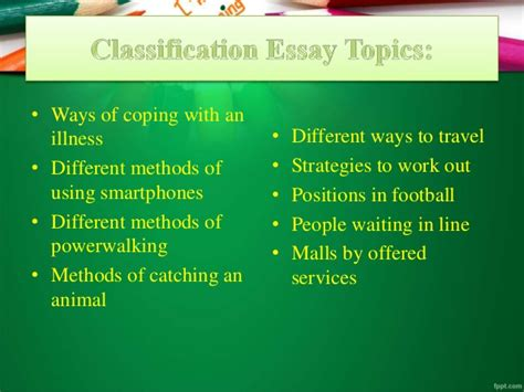 Classification Essay Topics by Classification Essay Prompts