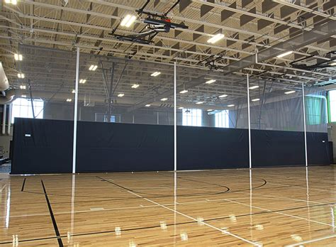 gymnasium divider curtains construction divider curtains porter athletic