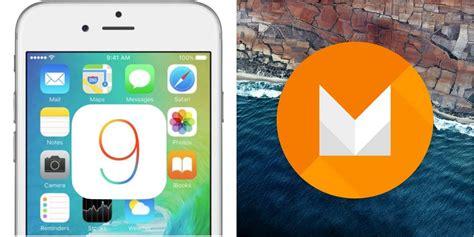 android themes ios 9 android m vs ios 9 comparatif des deux os d apple et google