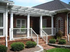Front Porch With Pergola by Front Porch Awesome Front Porch Design Idea With Round