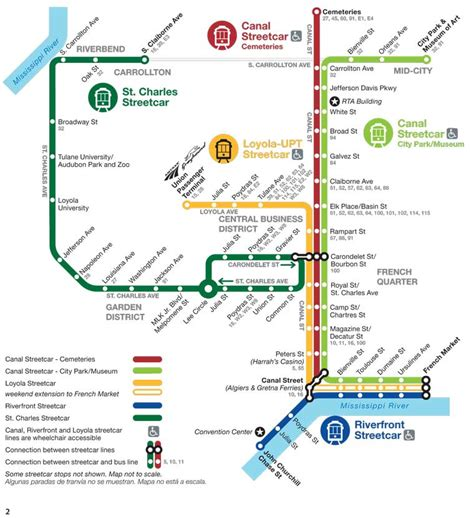 new orleans streetcar map new orleans streetcar routes st charles riverfront
