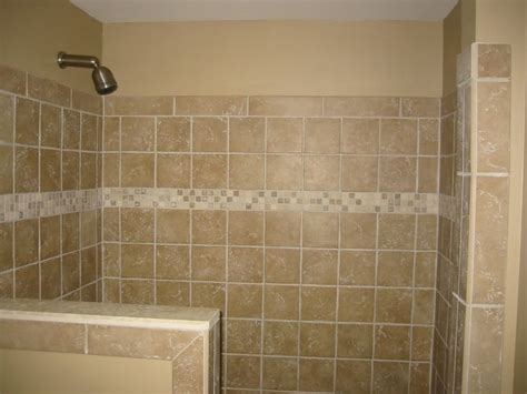 Shower Half Wall Tile Bathroom Renovations Pinterest Half Bathroom Tile Ideas