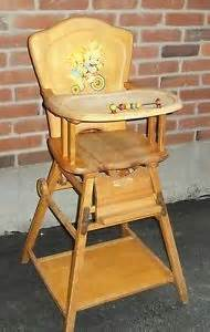 Antique High Chair Desk High Chair Converts To Desk On Wheels Combination Vintage