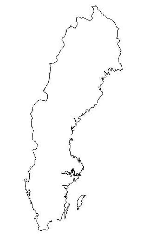 coloring page map of sweden sweden blank map sweden map geography physical