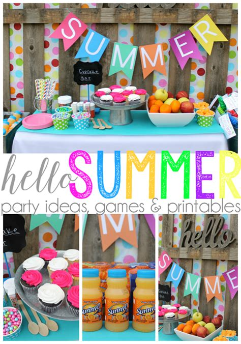 fun summer party ideas ginger snap crafts hello summer party ideas games