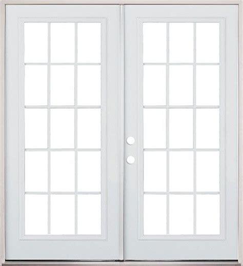 Prehung Patio Doors 6 0 15 Lite Steel Patio Prehung Door Classic Patio Door 15 Lite Steel
