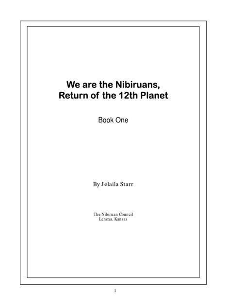 WE ARE THE NIBIRUANS, RETURN OF THE 12TH PLANET