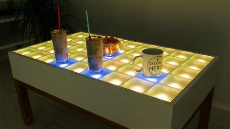 diy led table diy interactive led coffee table creativity