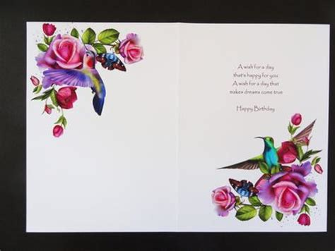 printable birthday card inserts petals wings and birthday blessings insert blank photo