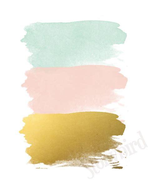 Blush And Gold Wall