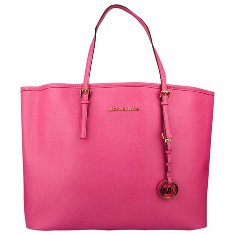 michael kors pink jet set travel tote women s bag