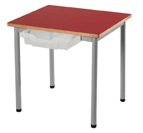 table cuisine 4 personnes table fixe t3 zoe 4 pieds metal 60 x 50 cm avec casier
