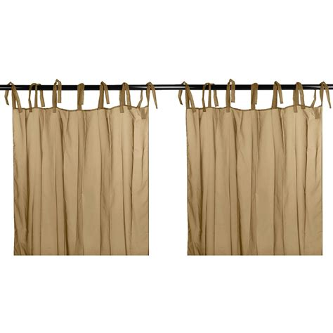tab tie curtains outdoor decor sheer voile curtain panel pairs 108x84
