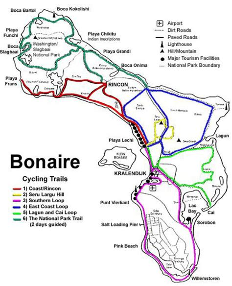 bonaire map 5 reasons to go cycling in bonaire