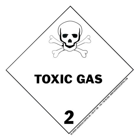 printable hazard label hazardous control dot hazmat placards hazard class 2