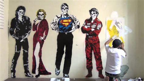 stencil graffiti art michael jackson marilyn monroe