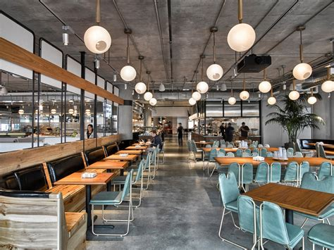 cafeteria kitchen design avroko designs a workplace cafeteria for dropbox