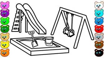 playground coloring pages learn colors for with playground coloring pages
