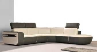 Leather Modern Sofas Plushemisphere Modern Leather Sectional Sofas