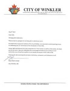 canada government officials write to congratulate 21st