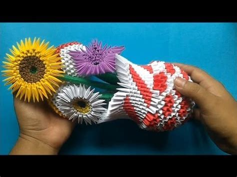 como hacer las flores de alcatras en una carpeta de gancho origami 3d arreglo floral youtube