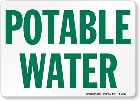 potable water sign quick shipping sku s 2846