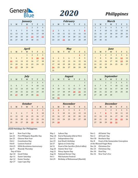 calendar philippines  holidays