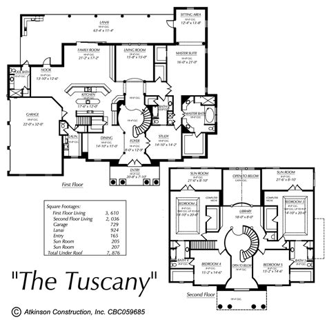 tuscan home floor plans the tuscany 169 atkinson construction inc citrus marion