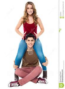 Music Studio Floor Plans gorgeous girl sitting on her boyfriend s shoulder stock