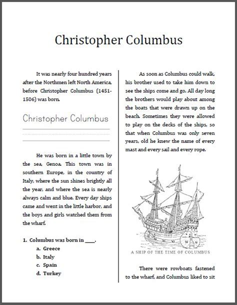 christopher columbus printable biography 15 best christopher columbus images on pinterest