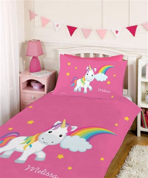 unicorn bedroom rainbow unicorn personalized duvet set wish list