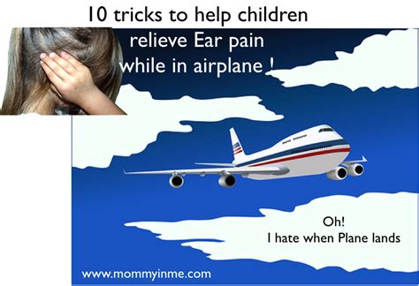 10 tricks to help children relieve ear while in