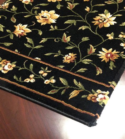 floral rug runners augusta floral cb43 0003a midnight floral carpet stair runner