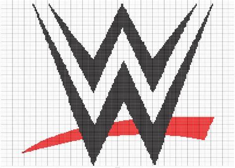 crochet pattern logos wwe logo for crochet blanket designed by lisa carter