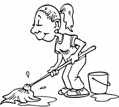 clean house coloring page cleaning the house coloring pages coloring pages