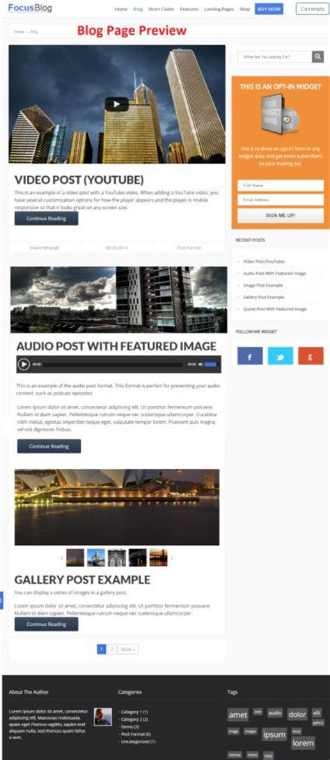 thrive themes gallery focusblog theme review thrive themes legit review
