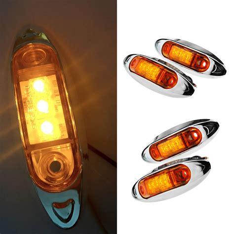 boat trailer side marker lights 4x12 24v amber side marker lights 3led indicators boat