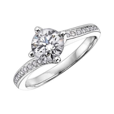 gorgeous diamond solitaire twist ring francis gaye