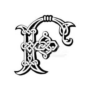 Celtic letter f stock photos freeimages com