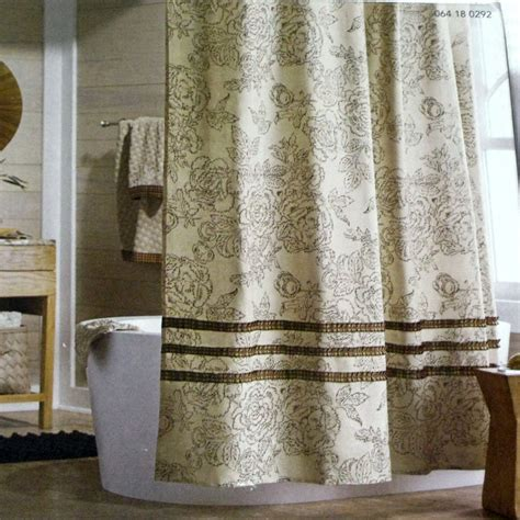 tan ruffle shower curtain threshold tan ruffle brown beige red gold fabric shower