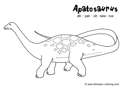 dinosaur coloring pages with names apatosaurus coloring