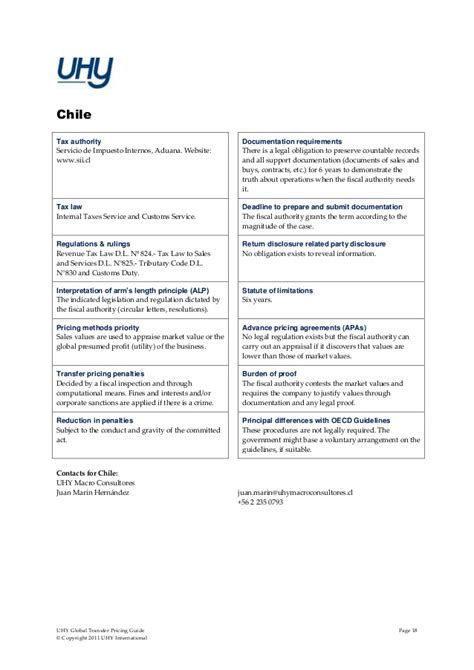 transfer pricing interno uhy global transfer pricing guide 2011