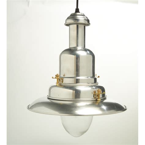 Large Silver Fisherman's Pendant Light or Polished Chrome Effect