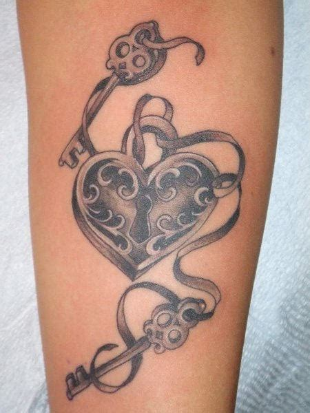 lock and key tattoo designs one lock two key