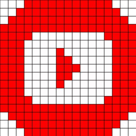 pattern in c youtube logo youtube perler bead pattern hama logos pinterest