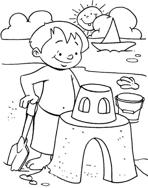 best summer sheets fun with sand coloring page download free fun with sand