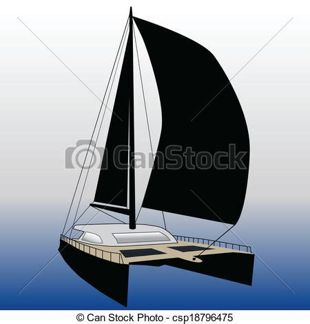 catamaran vector vectors illustration of sailing catamaran csp18796475