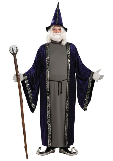 purple sorcerer costume  size wizard costumes